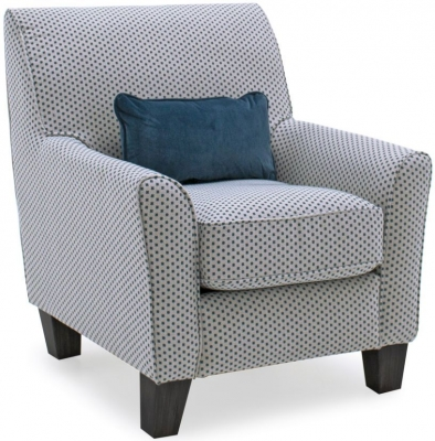 Vida Living Cantrell Teal Fabric Accent Chair