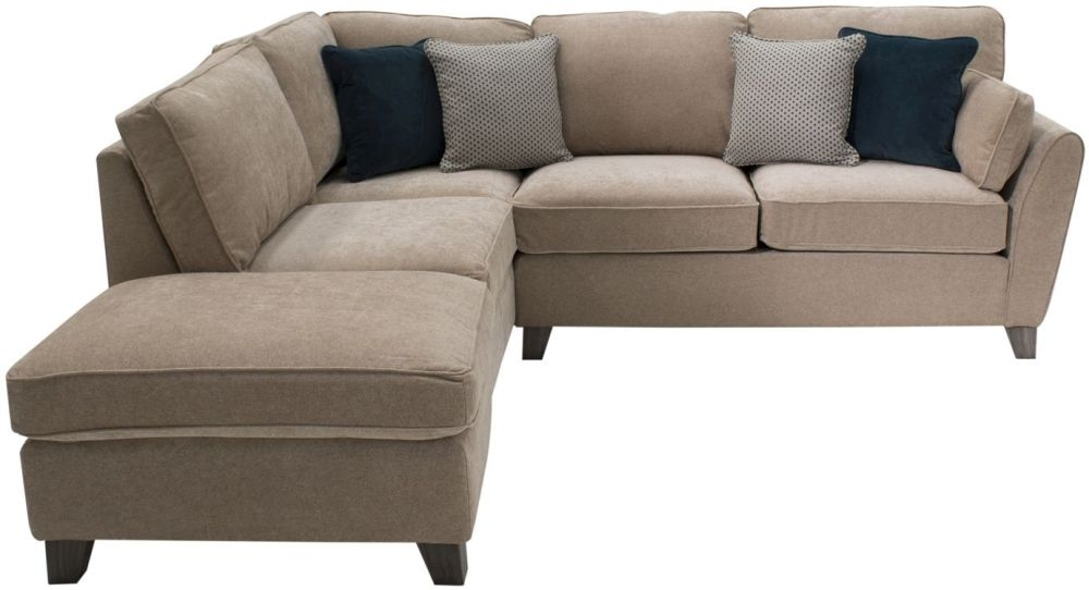 Vida Living Cantrell Almond Fabric Left Hand Facing Corner Sofa Group