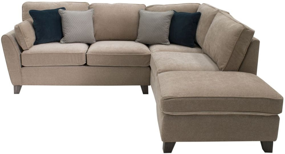 Vida Living Cantrell Almond Fabric Right Hand Facing Corner Sofa Group