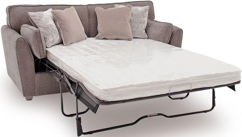 Vida Living Cantrell Mushroom Fabric 2 Seater Sofa Bed