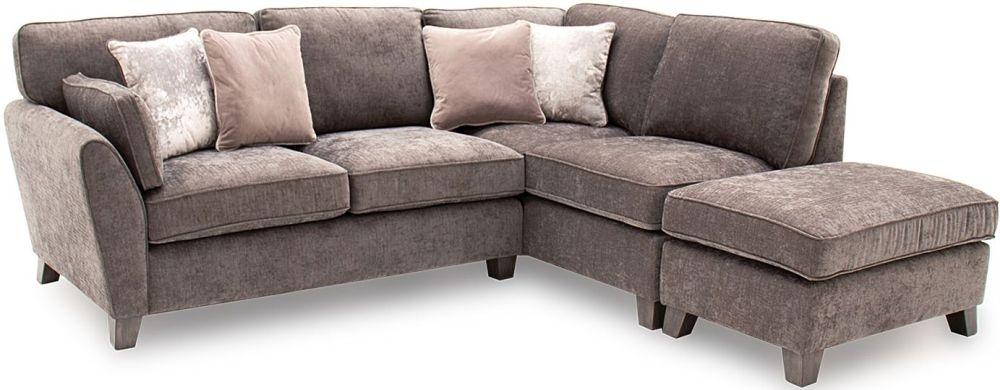 Vida Living Cantrell Mushroom Fabric Right Hand Facing Corner Sofa Group