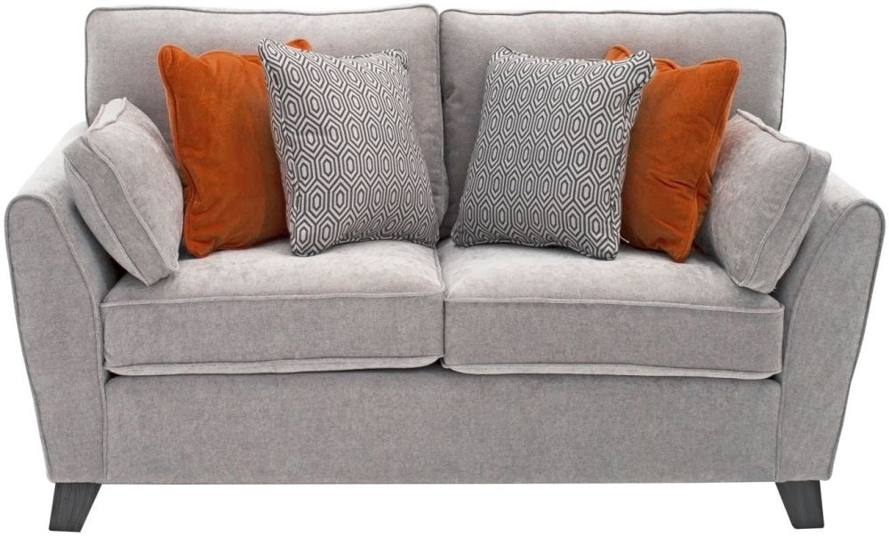 Vida Living Cantrell 2 Seater Sofa - Silver Fabric