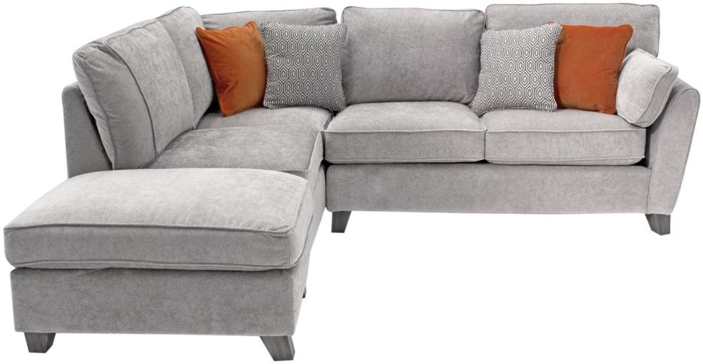 Vida Living Cantrell Silver Fabric Left Hand Facing Corner Sofa Group