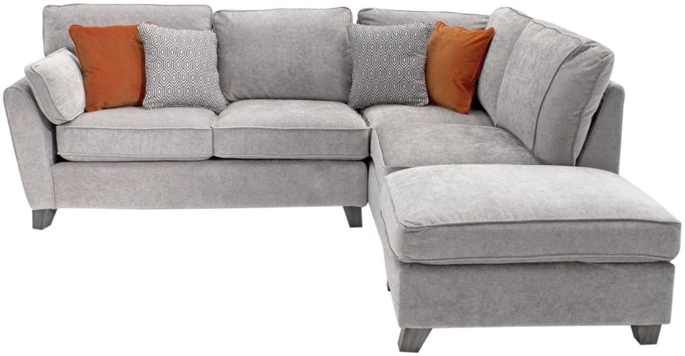 Vida Living Cantrell Silver Fabric Right Hand Facing Corner Sofa Group