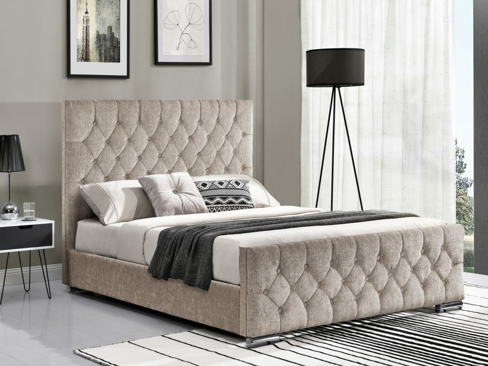 Vida Living Carina Fabric Bed - Mink