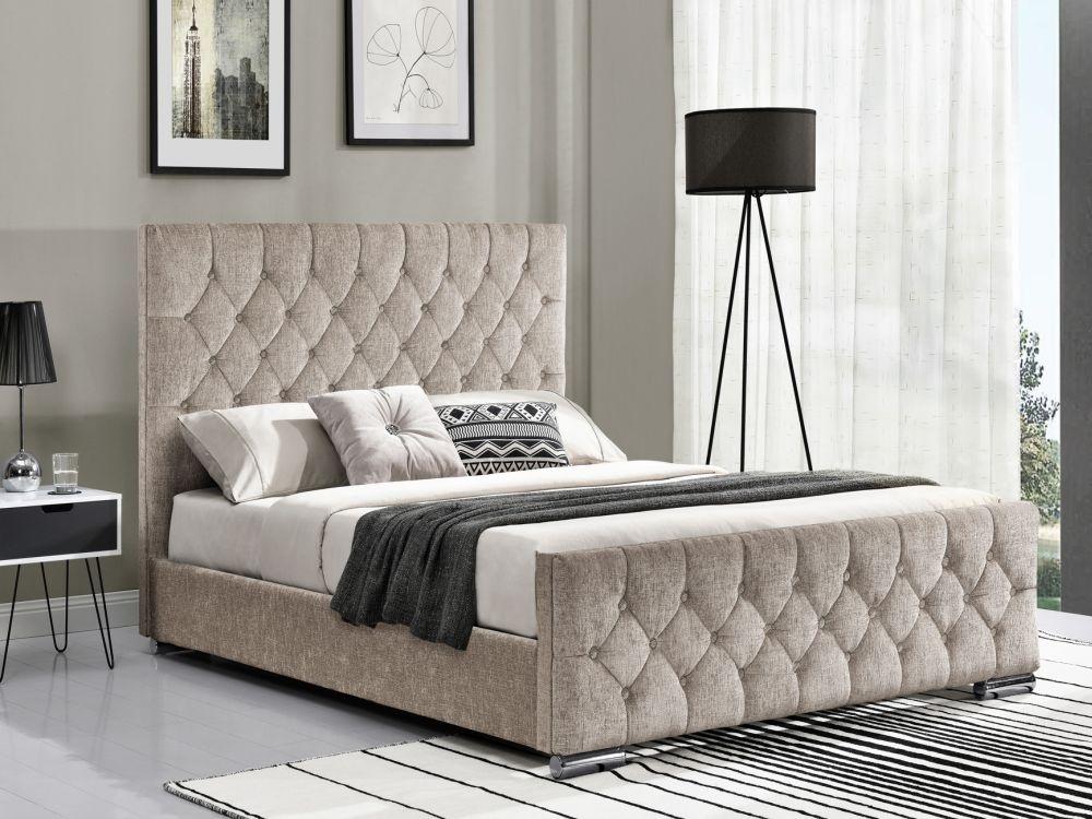 Vida Living Carina Mink Fabric Bed