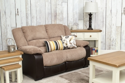 Vida Living Carlisle 2 Seater Sofa - Brown