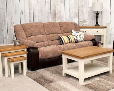 Vida Living Carlisle 3 Seater Sofa - Brown