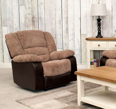 Vida Living Carlisle Recliner Armchair - Brown