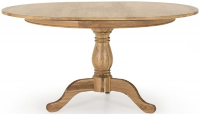 Vida Living Carmen Oak Oval Single Pedestal Dining Table
