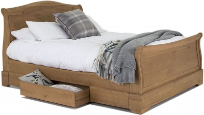 Vida Living Carmen Oak Sleigh Bed