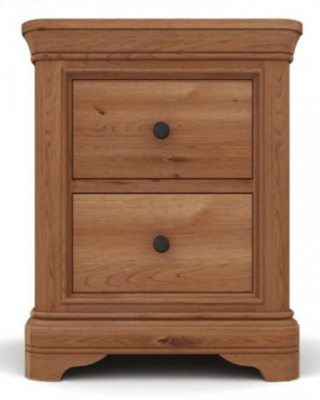 Vida Living Carmen Oak Bedside Cabinet - 2 Drawer