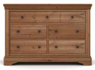 Vida Living Carmen Oak Chest of Drawer - 3 Over 4 Drawer