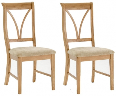 Vida Living Carmen Oak Dining Chair (Pair)