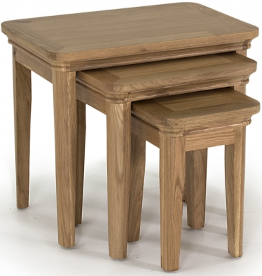 Vida Living Carmen Oak Nest of Tables