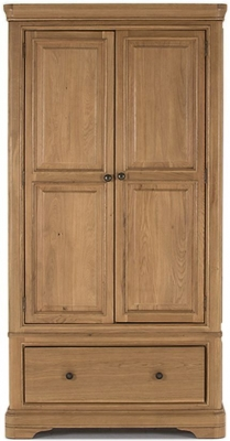 Vida Living Carmen Oak Wardrobe - 2 Door 1 Drawer
