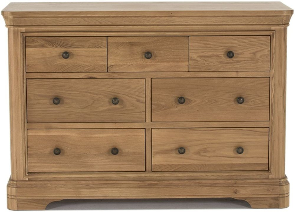 Vida Living Carmen Oak 4+3 Drawer Chest
