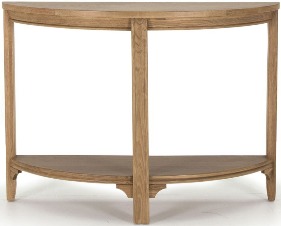 Vida Living Carmen Oak Console Table - Half Moon