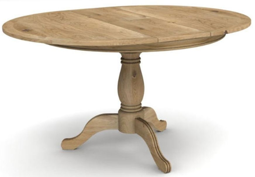 vida living carmen oak dining table round extending online cfs uk