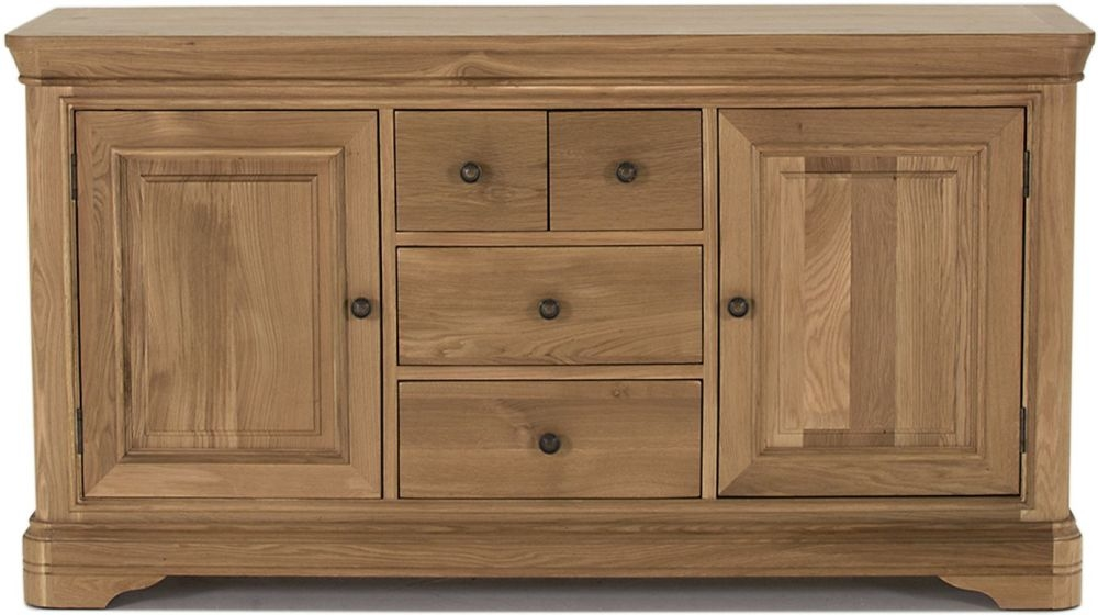 Vida Living Carmen Oak 2 Door 4 Drawer Wide Sideboard
