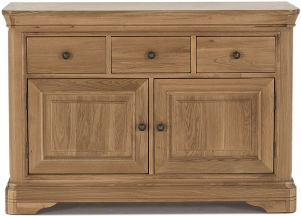 Vida Living Carmen Oak 2 Door 3 Drawer Wide Sideboard
