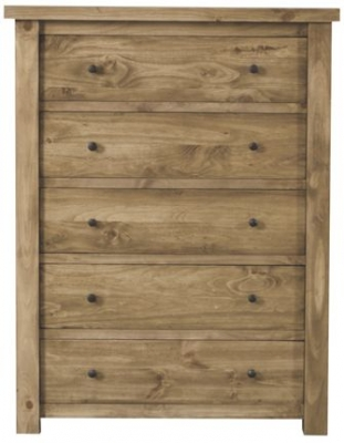 Vida Living Carolina Pine Chest of Drawer - 5 Drawer