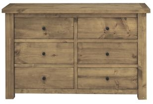 Vida Living Carolina Pine Dresser - 6 Drawer