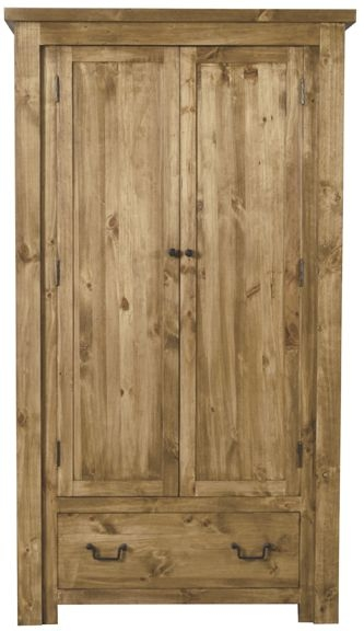 Vida Living Carolina Pine Wardrobe - 2 Door 1 Drawer
