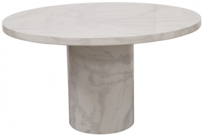 Vida Living Carra Bone White Marble Coffee Table