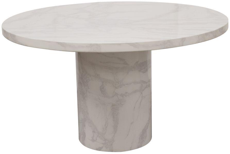 Vida Living Carra Bone White Marble Dining Table