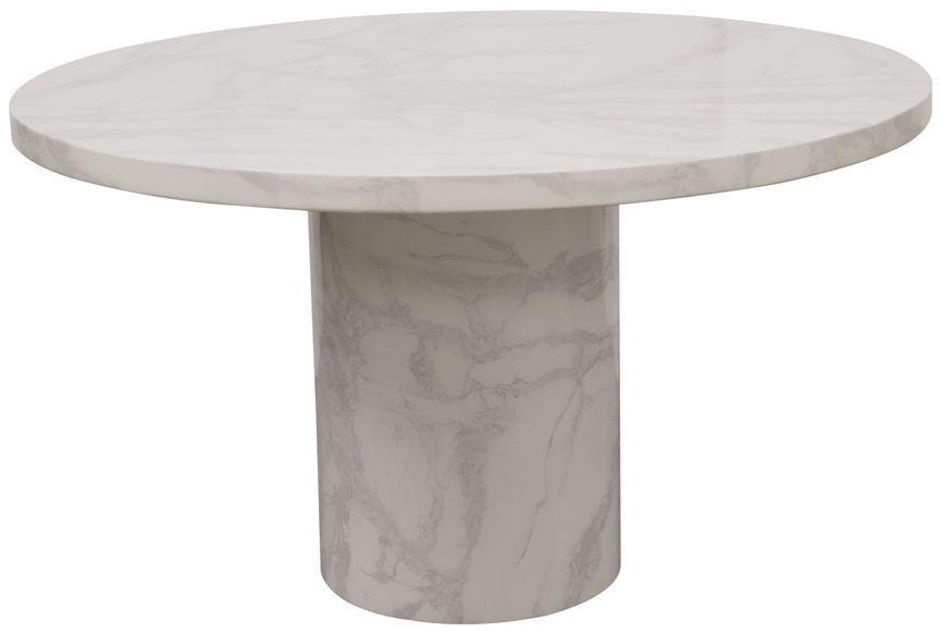 Vida Living Carra Bone White Marble Coffee Table