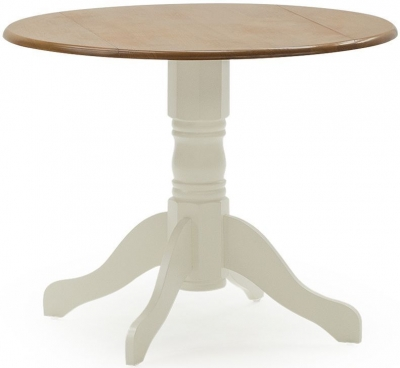 Vida Living Brecon 90cm Buttermilk Round Single Pedestal Dining Table