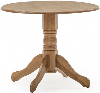Vida Living Brecon 90cm Honey Round Single Pedestal Dining Table