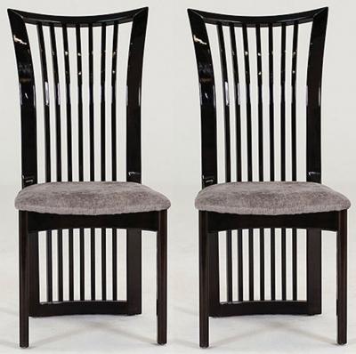 Vida Living Marco Grey Fabric Seat Pad Dining Chair (Pair)