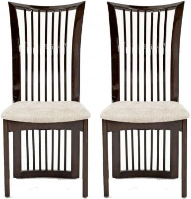 Vida Living Marco Stone Fabric Seat Pad Dining Chair (Pair)