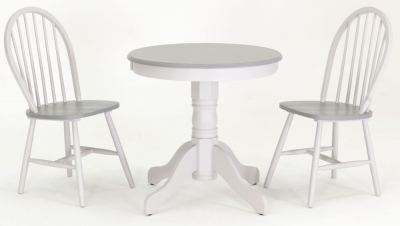 Vida Living Theo Painted Brecon Dining Set - Round with 2 Dining Chairs