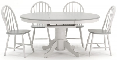 Vida Living Theo Painted Dining Set - Extending with 4 Dining Chairs