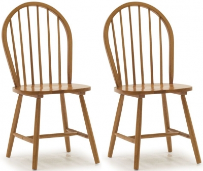 Vida Living Windsor Spindle Back Honey Dining Chair (Pair)