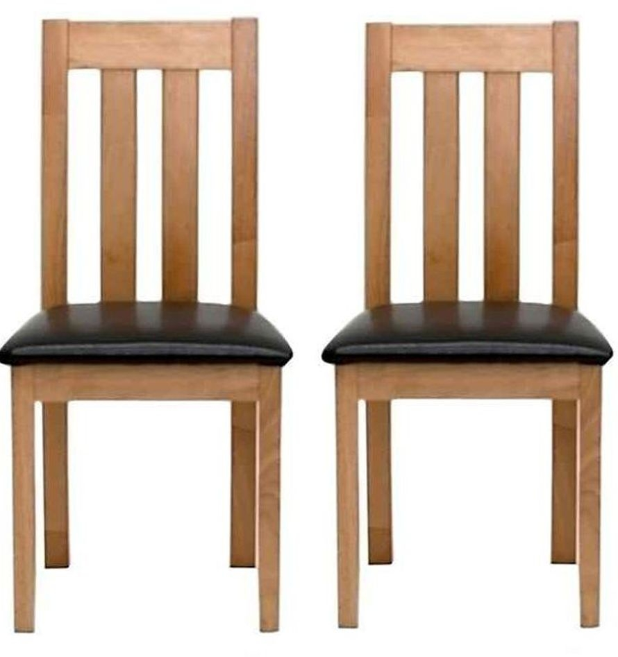 Vida Living Annecy Oak Dining Chair (Pair)