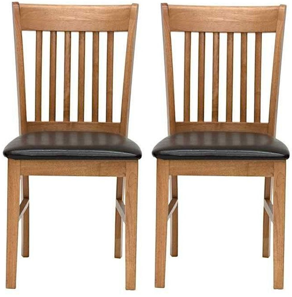 Vida Living Cleo Oak Dining Chair (Pair)