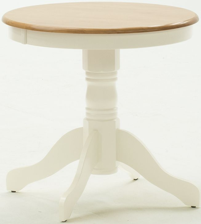 Vida Living Kinver Buttermilk Round Fixed Top Dining Table - 76cm