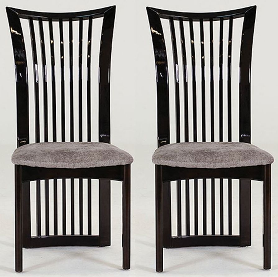 Vida Living Marco Grey Fabric Seat Pad Dining Chair (Pair)