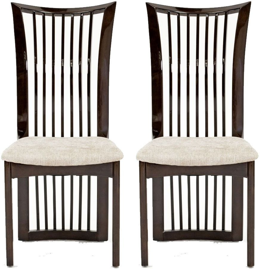Vida Living Marco Stone Fabric Seat Pad Dining Chair (Pair)