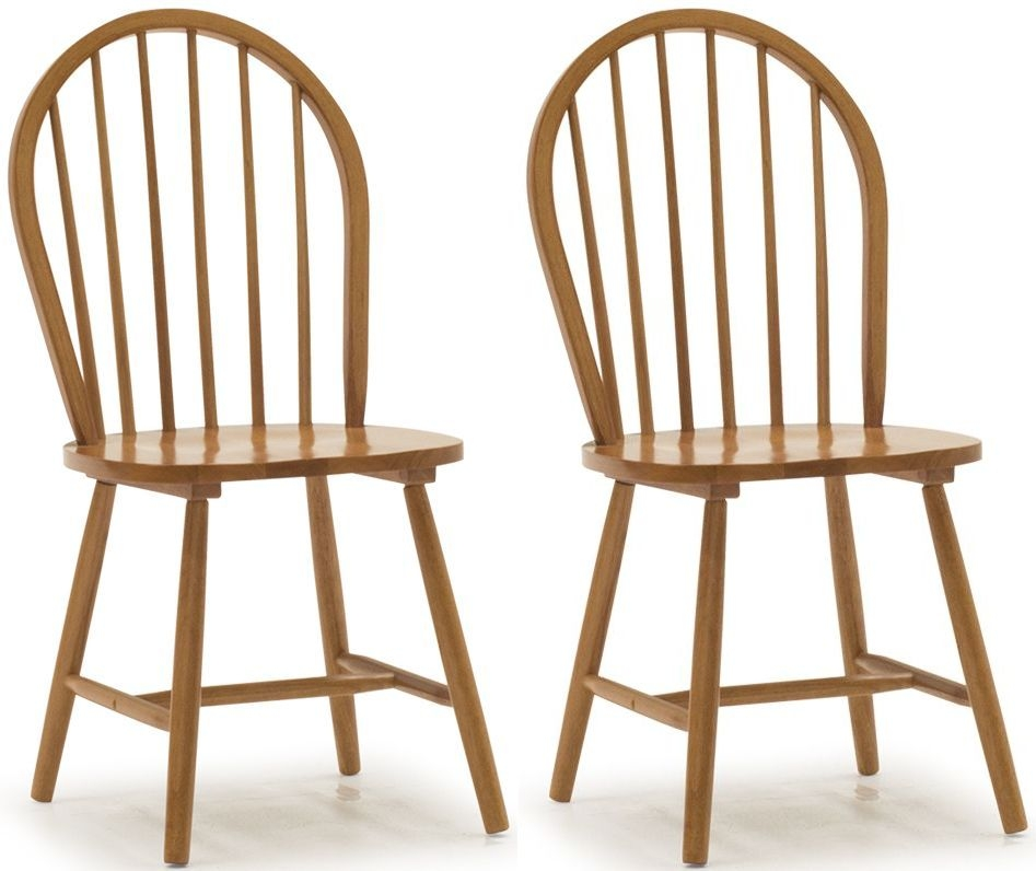 Vida Living Windsor Honey Dining Chair (Pair)