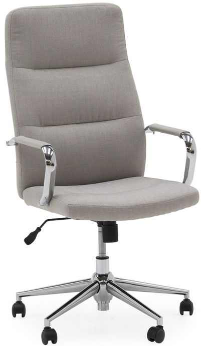 Vida Living Larsson Office Chair - Beige Linen Fabric