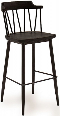 Vida Living Blake Black Elm Bar Chair