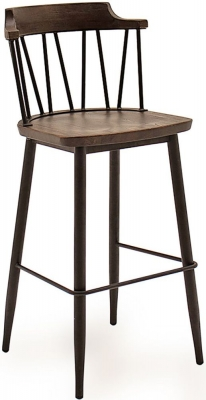 Vida Living Blake Rustic Elm Bar Chair