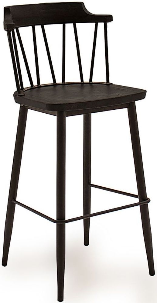 Vida Living Blake Black Elm Bar Chair