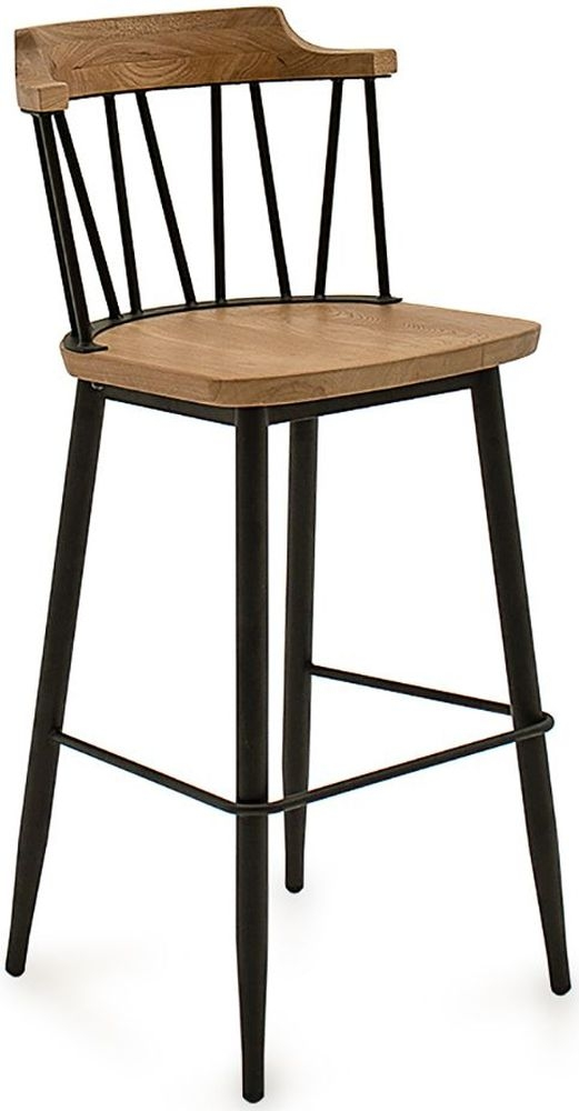 Vida Living Blake Natural Elm Bar Chair