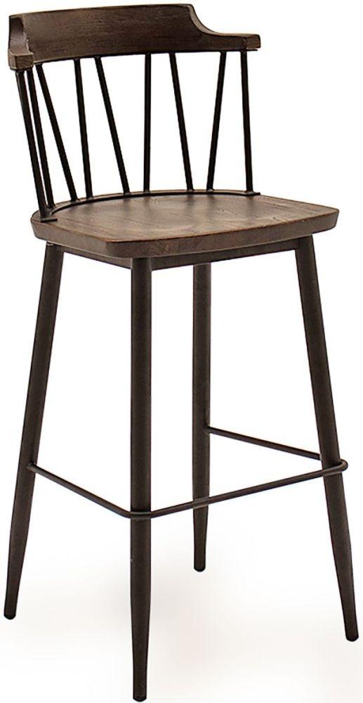 Vida Living Blake Rustic Elm Bar Chair